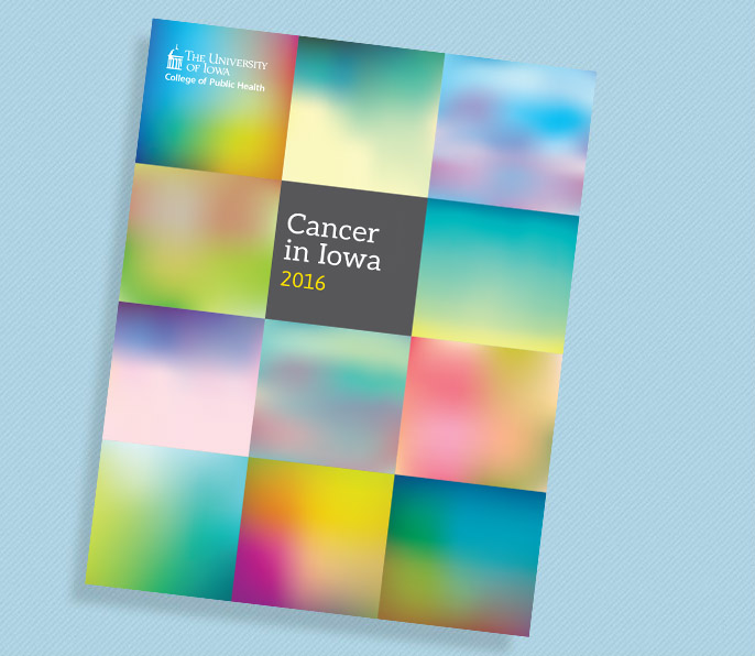Cover image of the Cancer in Iowa 2014 report.