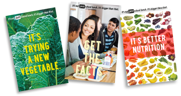 School lunch promotional material covers.