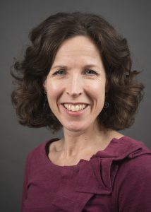A portrait of Carri Casteel of the Department of Occupational and Environmental Health at the University of Iowa College of Public Health.