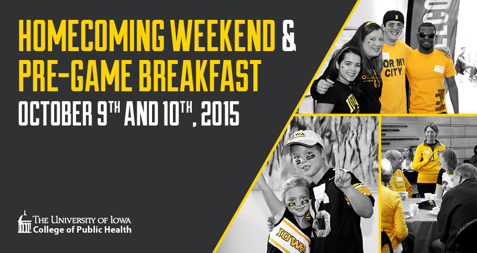 Homecoming Weekend and Pre-Game Breakfast, Oct. 9 and 10, 2015.