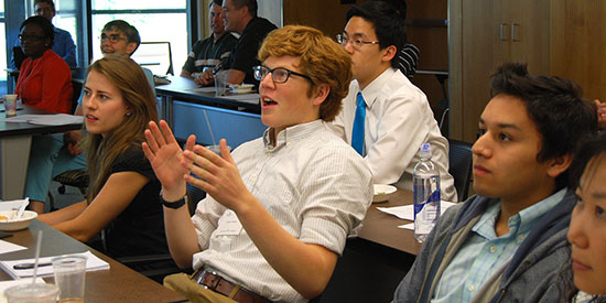 Students react to presentations at the Iowa Summer Institute in Biostatistics.