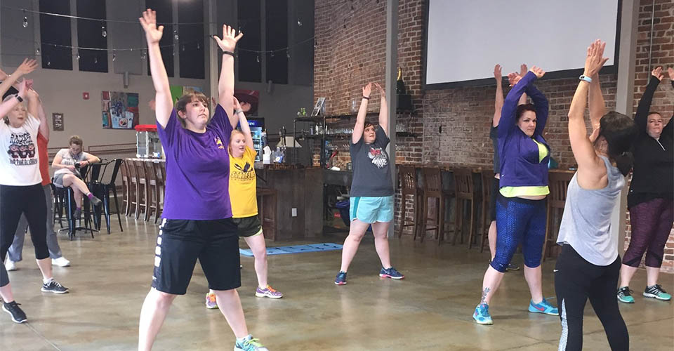 photo of participants in a fitness class offered by Active Ottumwa