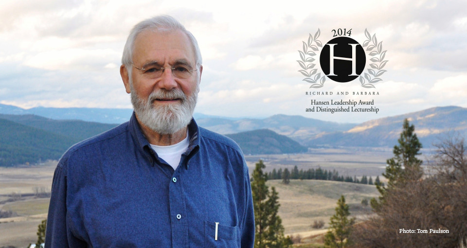 William H. Foege, winner of the 2014 Richard and Barbara Hansen Award and Distinguished Lectureship