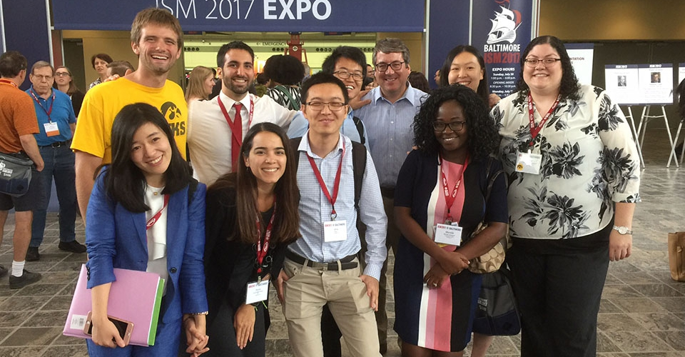 Biostatistics students and faculty attending the JSM Expo 2017