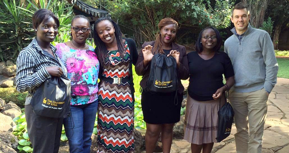 CPH prof. Will Story with research team members in Kenya