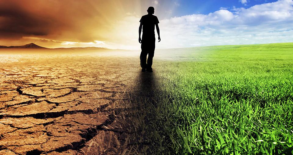 photo illustration of climate change