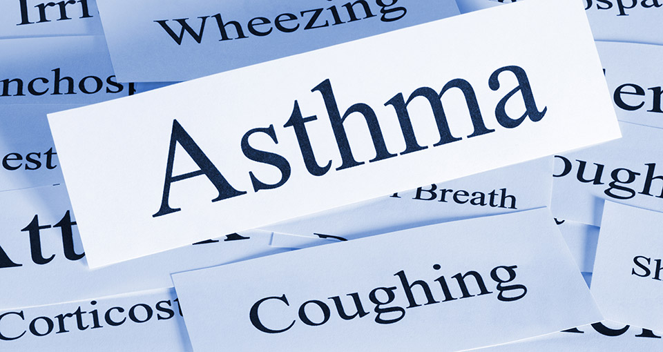 Photo of words associated with respiratory problems