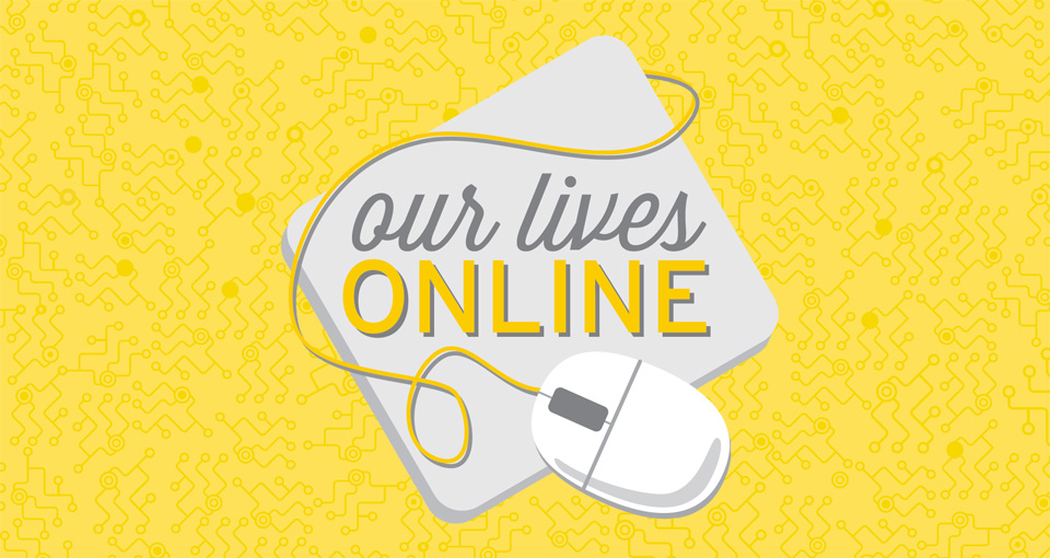 Our Lives Online logo with mouse and mousepad
