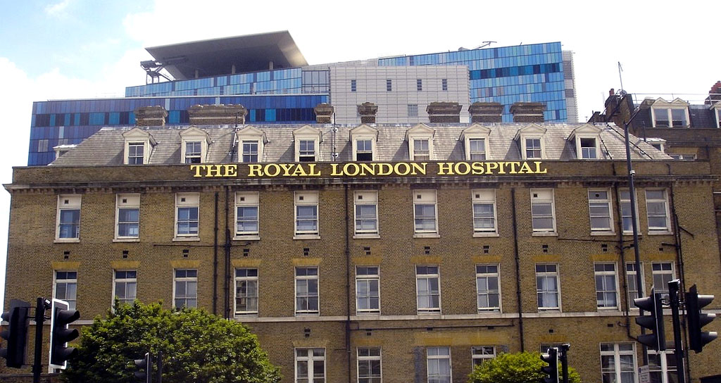 Photo of the Old Building at the Royal London Hospital in London, England.