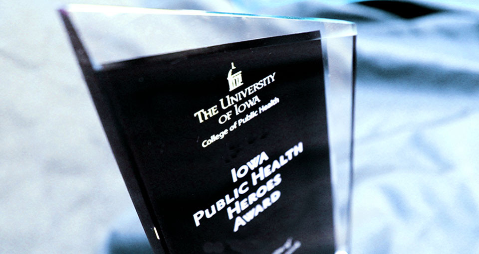 photo of Iowa Public Health Heroes award