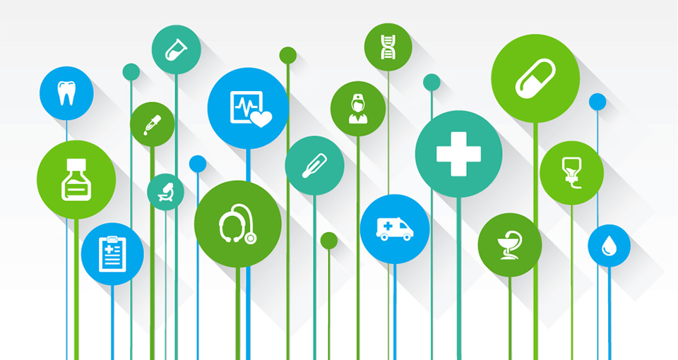 illustration of connected health care services