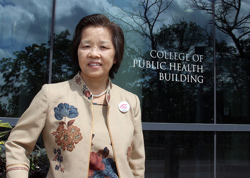 Visiting professor Naowarut Charoenca studies tobacco use and control in her home country of Thailand