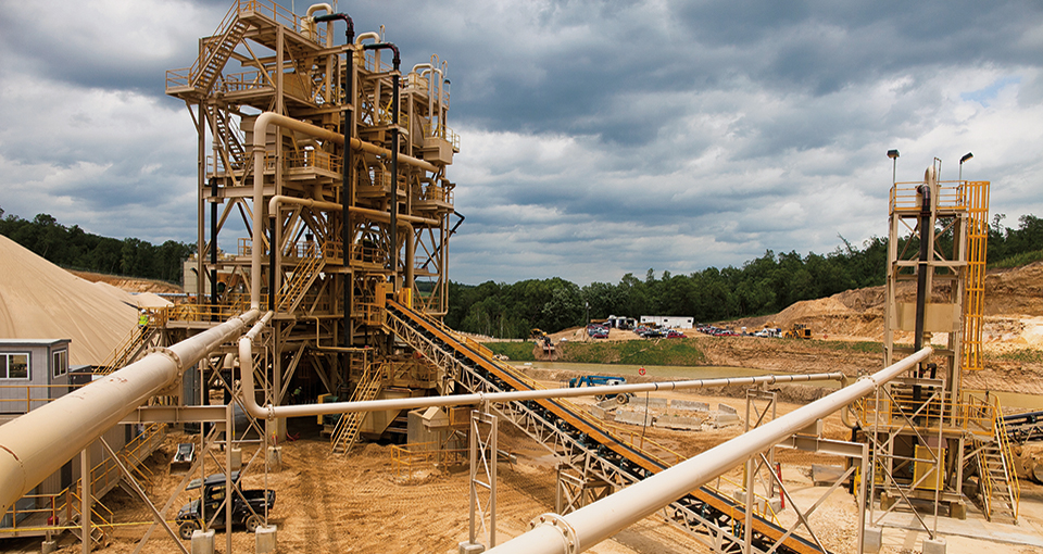 Photo of the Preferred Sands plant in Blair, Wis., on June 20, 2012. Lukas Keapproth/Wisconsin Center for Investigative Journalism