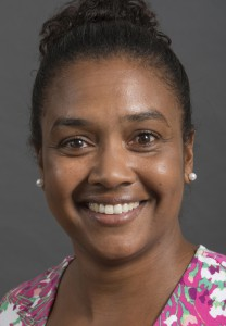 A portrait of Prof. Miesha Marzell of the Department of Community and Behavioral Health in the College of Public Health at the University of Iowa.