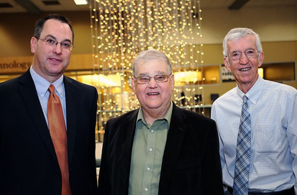 "photo of Christopher Coffey, William Clarke, and Robert ""Skip"" Woolson"