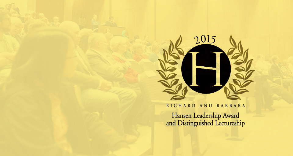 2015 Hansen Award