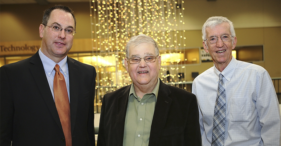 Chris Coffey, William Clarke and Robert Woolson -- the three directors of the Clinical Trials Statistical Data Management Center at the University of Iowa College of Public Health.