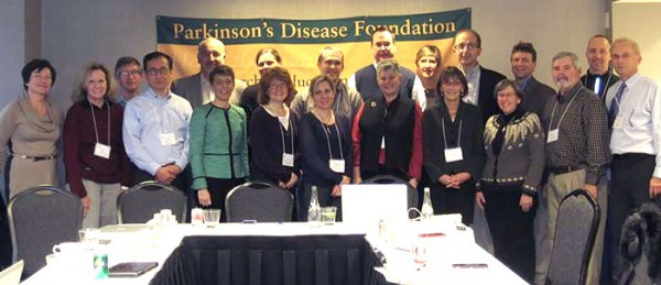 Attendees at the Parkinson's disease and exercise meeting