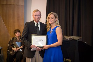 Brittney Donovan receives the EPI Milford E. Barnes Award