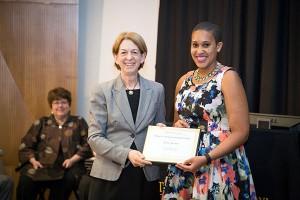 Erin Foster receives the 2015 Dean's Achievement Award