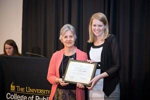 Kelsey Feller receives the MPH Milford E. Barnes Award