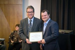 Mitchell Thomann receives the biostatistics Milford E. Barnes Award