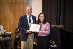Sophia Chiu receives the OEH Milford E. Barnes Award