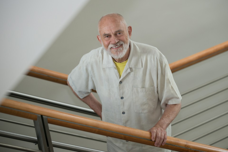 A portrait of David Osterberg, professor of Occupational and Environmental Health at the University of Iowa College of Public Health.