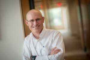 A portrait of Peter Thorne, professor and head of the Department of Occupational and Environmental Health at the University of Iowa College of Public Health.