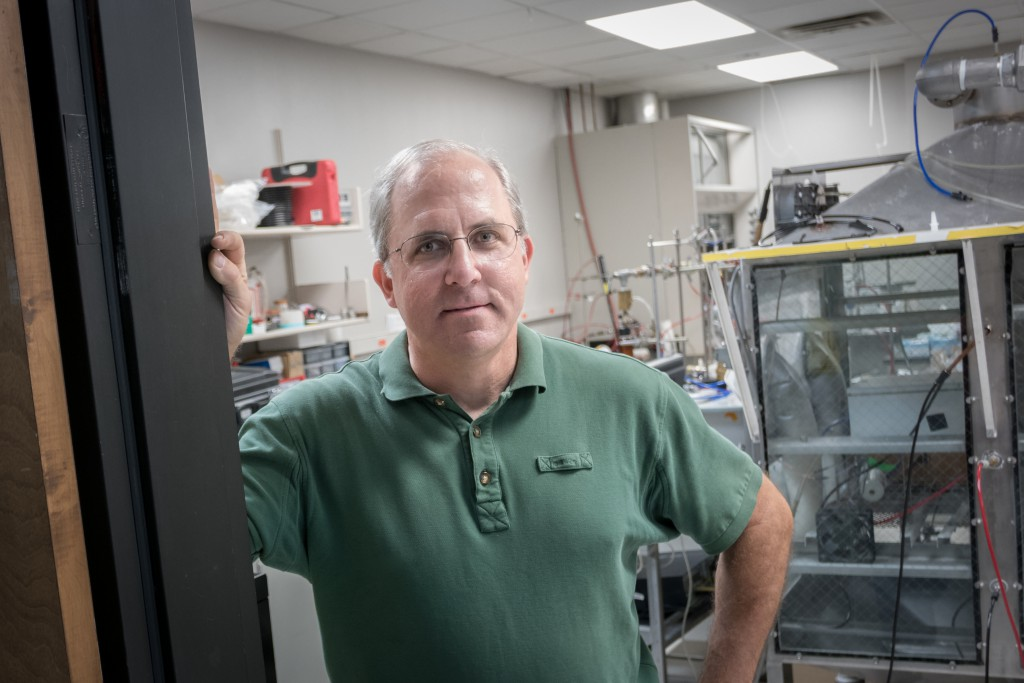A portrait of Patrick O'Shaughnessy, professor of Occupational and Environmental Health at the University of Iowa College of Public Health.