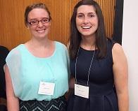 A portrait of Michelle Londe and Eleanor Cotton of the 2015 Iowa Summer Institute in Biostatistics.