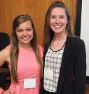 A portrait of Anna Mennenga and Monica Ahrens of the 2015 Iowa Summer Institute in Biostatistics.
