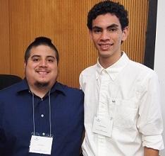 A portrait of Luis Villacis and Jansel Herrera of the 2015 Iowa Summer Institute in Biostatistics.