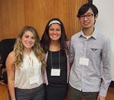 A portrait of Edel Sah, Lorena Cristal and Chelsea Robalino of the 2015 Iowa Summer Institute in Biostatistics.
