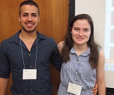 A portrait of Katie Frank and Roberto Pérez of the 2015 Iowa Summer Institute in Biostatistics.