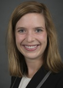 A portrait of Catherine Gehlsen of the Department of Health Management and Policy in the College of Public Health at the University of Iowa.