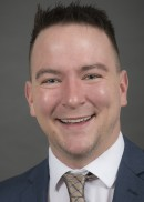 A portrait of Aaron Horsfield of the Department of Health Management and Policy in the College of Public Health at the University of Iowa.
