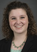 A portrait of Kaitlyn Hunsberger of the Department of Health Management and Policy in the College of Public Health at the University of Iowa.