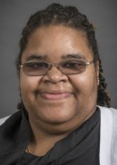 A portrait of Geneva Wilson of the Department of Epidemiology Health in the College of Public Health at the University of Iowa.