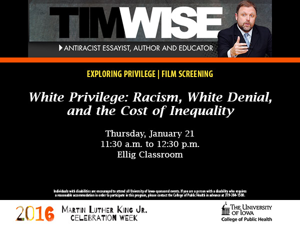 White Privilege film screening