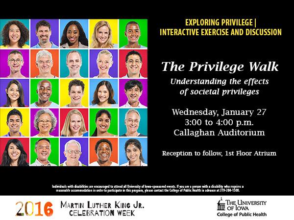 Privilege Walk event