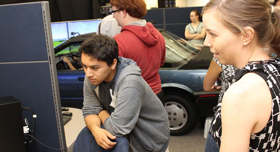 Field trip to the University of Iowa Driving Simulator
