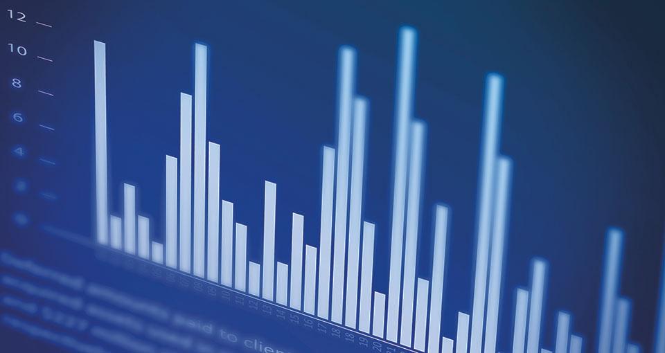 Bar chart displayed on a computer screen