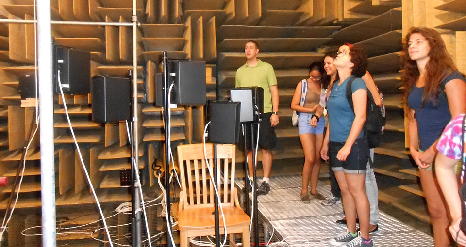 Field trip to the Speech and Hearing Anechoic Chamber