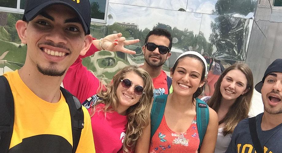 ISIB student selfie