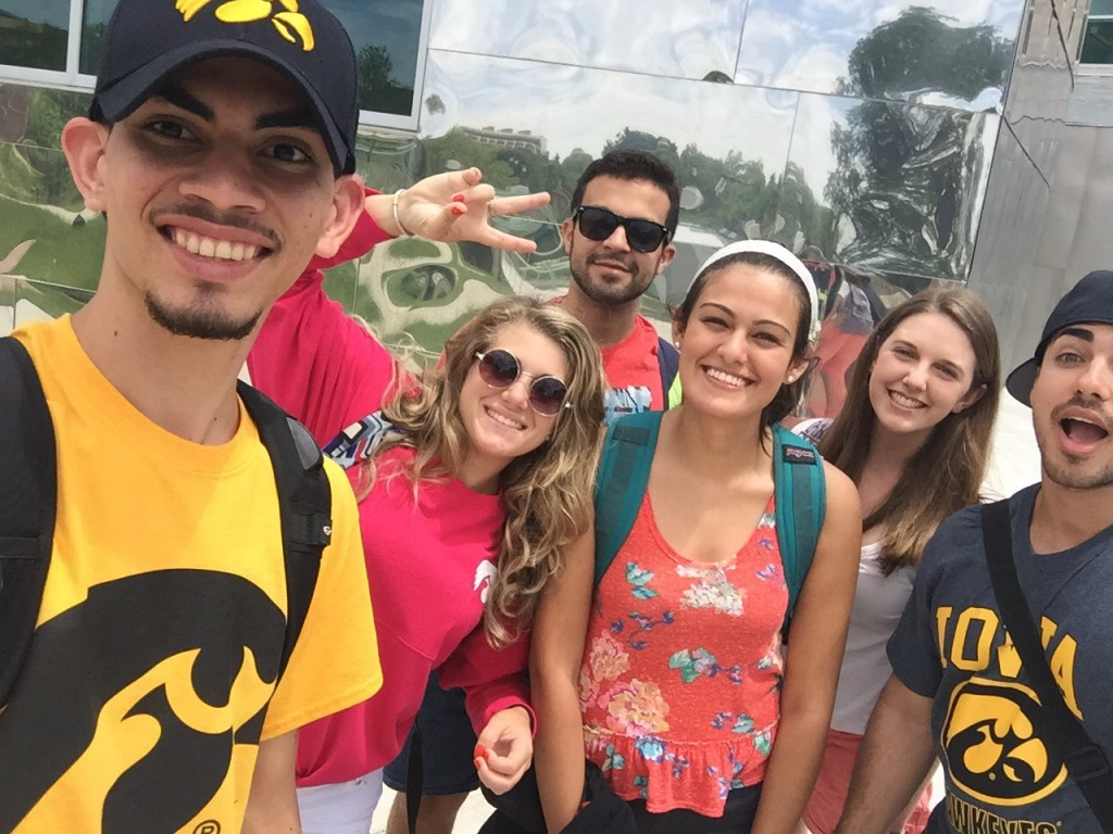 Students from the Iowa Summer Institute in Biostatistics pose in front of the Iowa Advanced Research Laboratories.