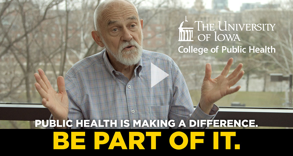 Video still of David Osterberg discussing public health and climate change.
