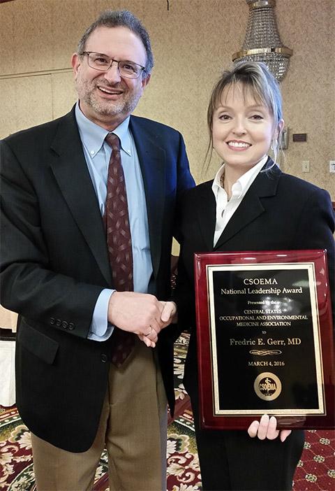 Fred Gerr receives the 2016 CSOEMA National Leadership Award