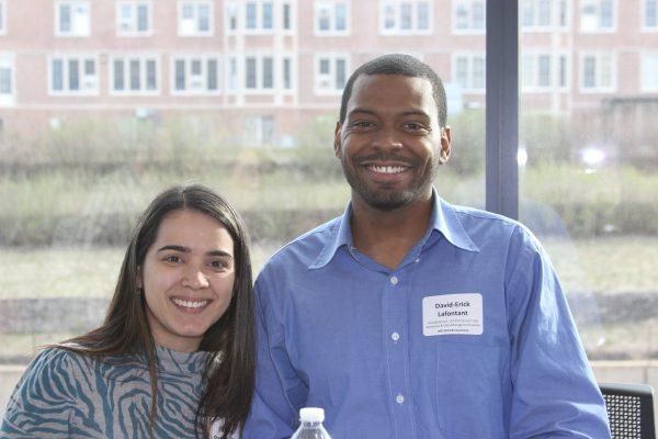 Biostatistics student Keyla Pagan-Rivera and alumnus David-Erick Lafontant.