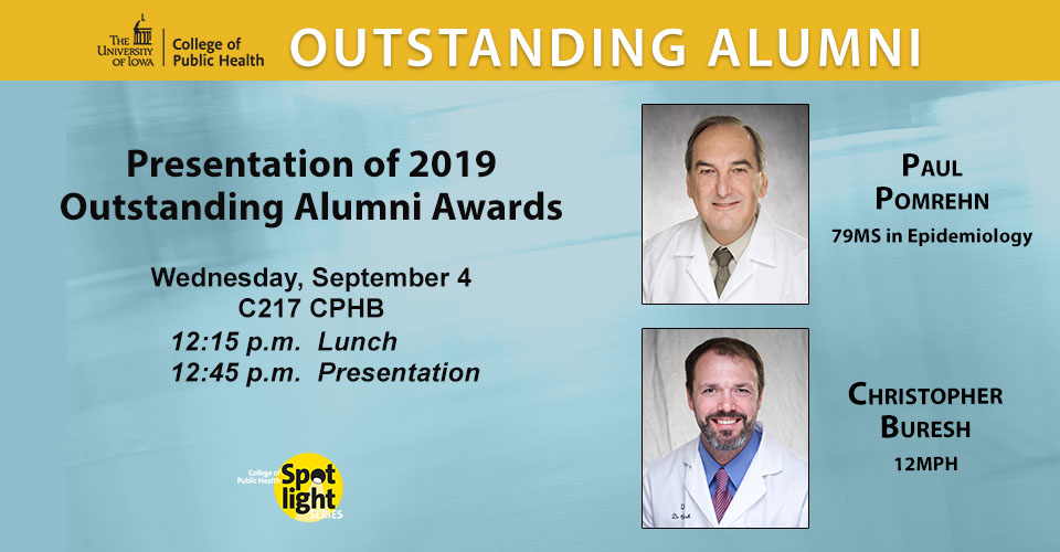 2019 CPH Outstanding Alumni award winners portraits